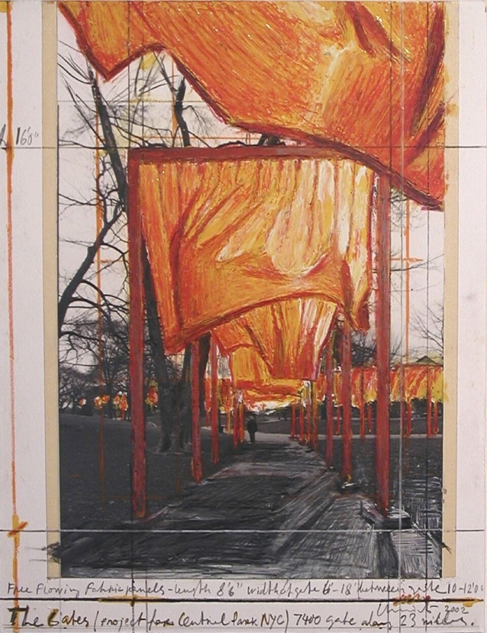 Christo disegno per Floating Piiers