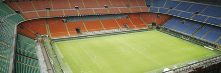 L'interno dello stadio di San Siro
