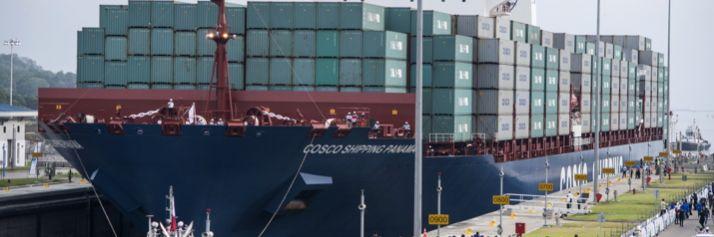 La Cosco Shipping per la prima volte entra nel Canal Ampliado