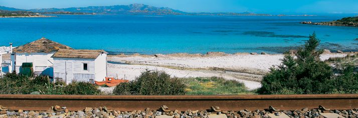 Golfo Aranci, la ferrovia a Cala Sabina
