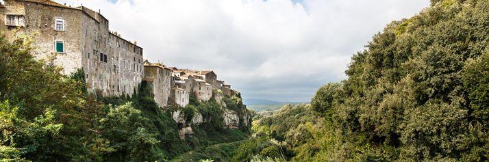 L'abitato di Farnese visto dal belvedere