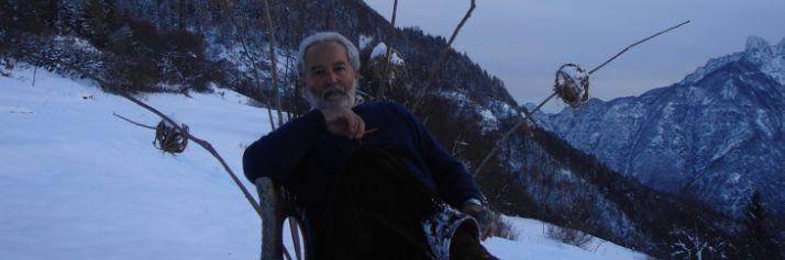 Claudio Sabelli Fioretti nella sua casa trentina