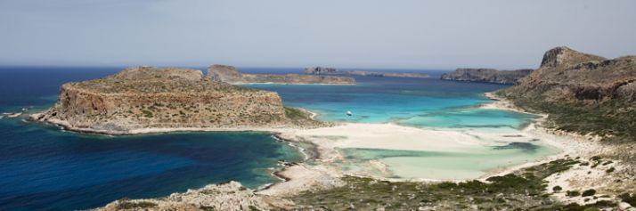 La baia  della spiaggia di Balos.