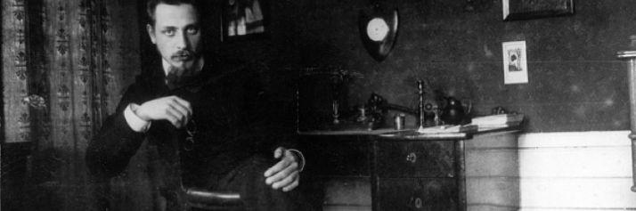 Rainer Maria Rilke in una foto d'epoca