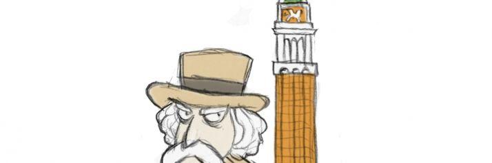 Mark Twain a Venezia visto da Gianluca Bisalchin